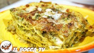 583 - Lasagne broccoli e funghi...e la tavola allunghi! (lasagne vegetariane, primo facile e veloce)