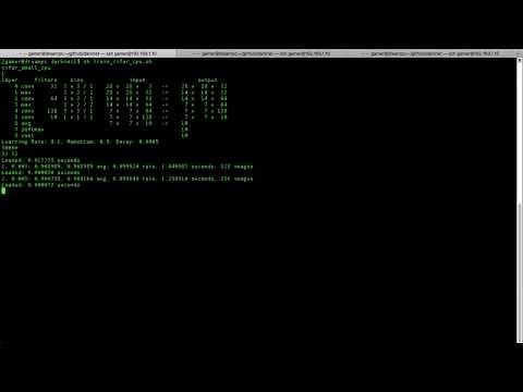 DarkNet Train CIFAR-10 CPU vs GPU vs 2GPU in 10s