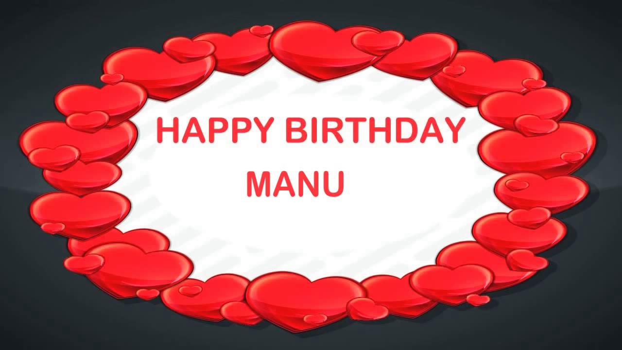 Manu Birthday Postcards Postales Happy Birthday Youtube