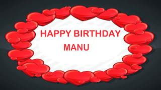 Manu   Birthday Postcards & Postales - Happy Birthday MANU
