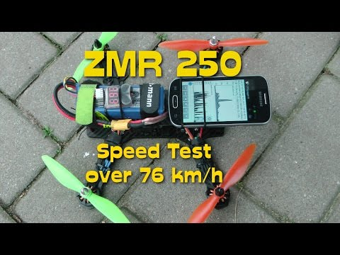 zmr 250 speed test gps logger flight over 76 km h youtube. Black Bedroom Furniture Sets. Home Design Ideas