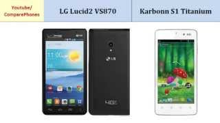 LG Lucid2 VS870 to Karbonn S1 Titanium, all features