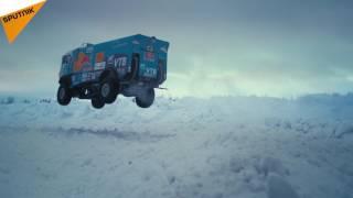 KAMAZ Truck Driver Pulls Off a 30 Meter Jump