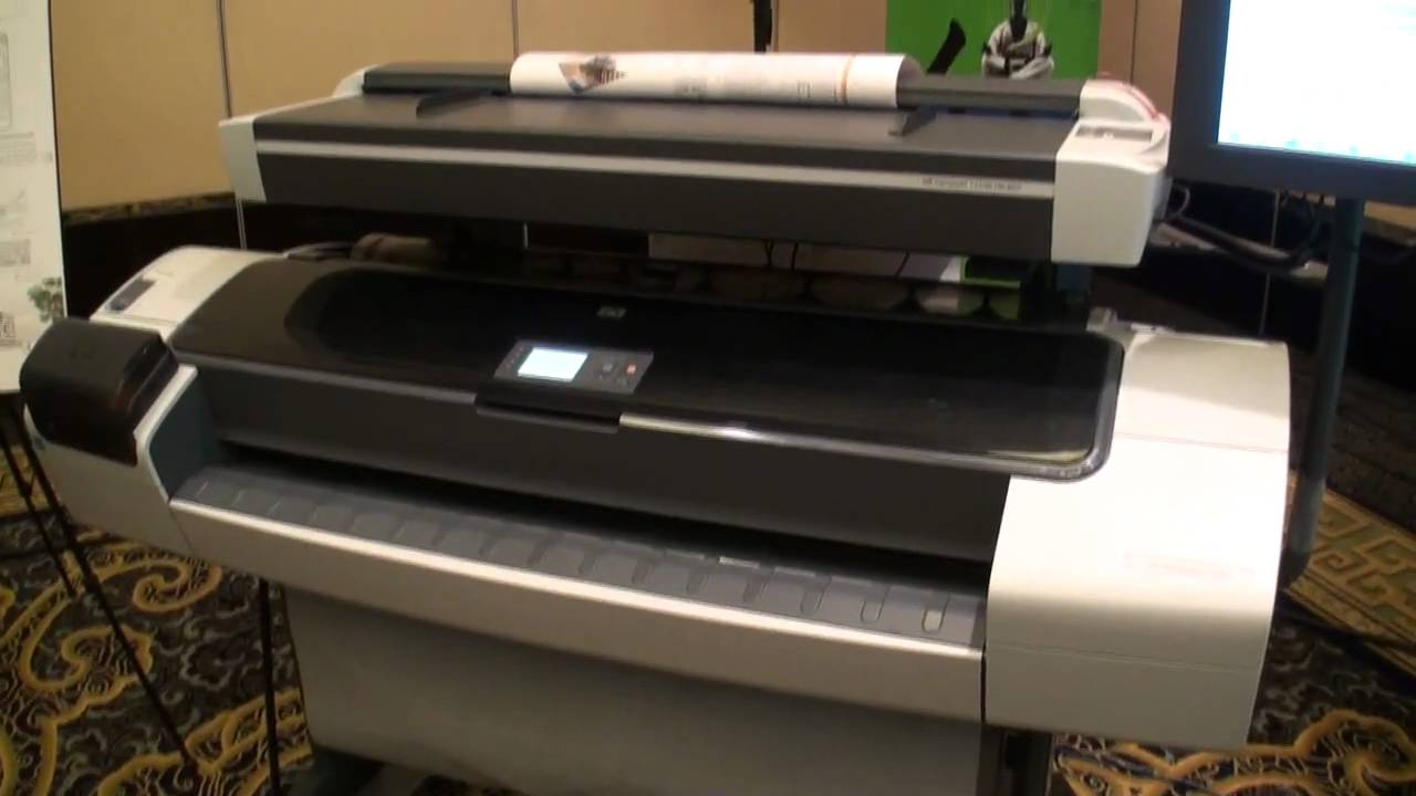 HP DesignJet T1200 Showcase - YouTube