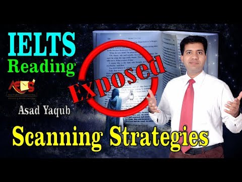 IELTS Reading Exposed || Scanning Techniques || Asad Yaqub