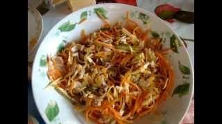 Салат с морковкой по корейски и маринованными огурчиками