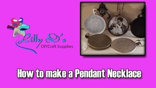 Pendant Tray Necklace Tutorial with Glass Cabochons by Lillyds.com