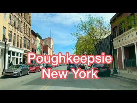 Driving Through Mid-Hudson Bridge To  Main Street, Poughkeepsie,  New York, USA (2019)