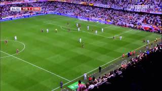 Repeat youtube video Gareth Bale goal vs FC Barcelona Copa Del Rey Final 2014 English commentary