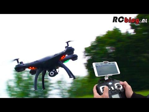 Syma X5SW Explorers Wi-Fi FPV Quadcopter video review (NL)