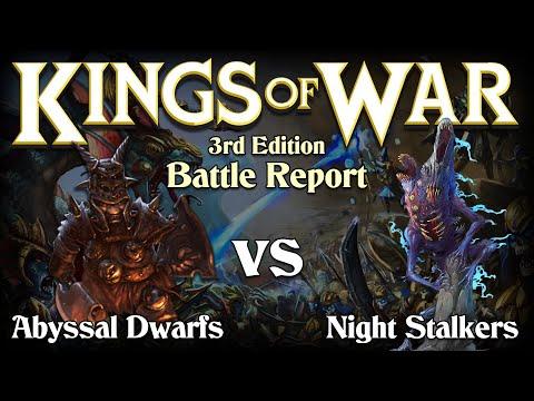 Abyssal Dwarfs vs Night Stalkers King of War 3rd Edition Battle Report - Demo Game