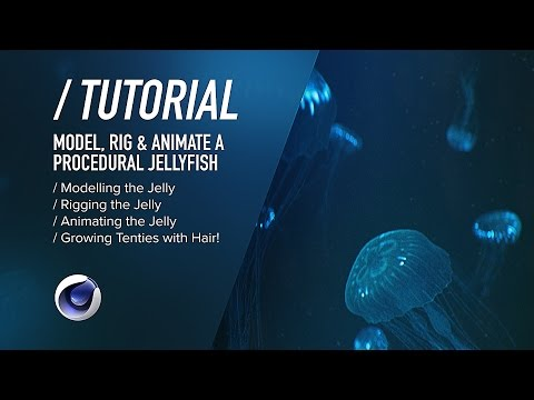 ( / ) C4D TUTORIAL | Bioluminescent Jellyfish PT1 | Modelling, Rigging & Animating