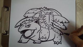 COMO DIBUJAR A MEGA VENUSAUR - POKEMON / how to draw mega venusaur - pokemon