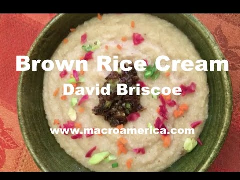Brown Rice Cream