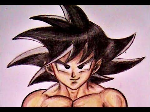 Como Dibujar A Goku Fase Normal Youtube