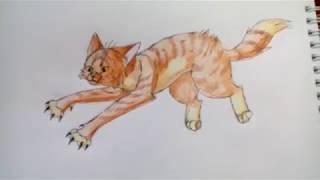 Уроки рисования №2 | Как нарисовать кота в прыжке | Рисуем легко | Рисование для начинающих | #12