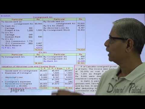 CA Foundation ,Consignment Accounts Sum 15