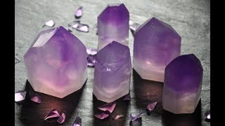 Making of Amethyst Glycerin Soap Points