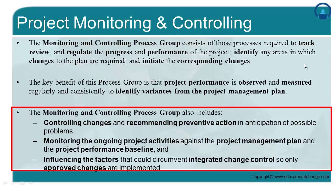 project planning monitoring and controlling Project management & project controls challenges for the future by: ing o planning & project control, o project metrics programme director with its project monitoring office this project director should be part.