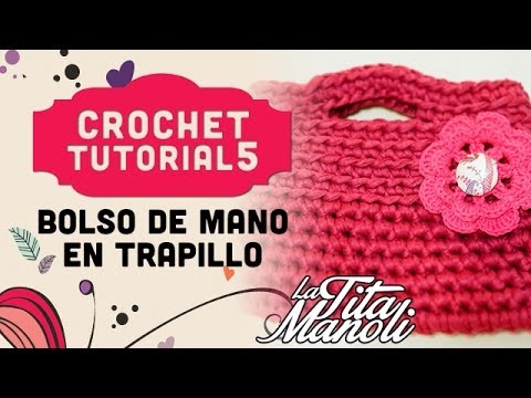 Crochet bolso de mano de trapillo youtube for Bolsos de crochet de trapillo