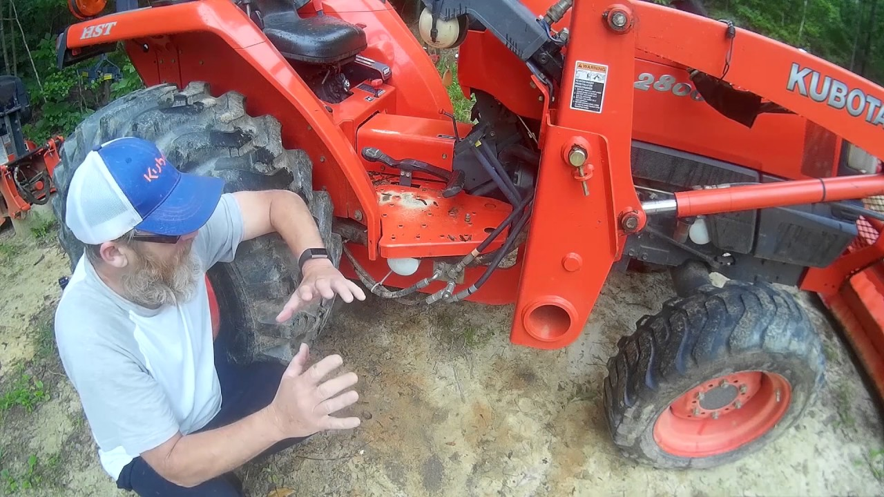 medium resolution of installing the sub frame mount for a backhoe and hydraulics overview
