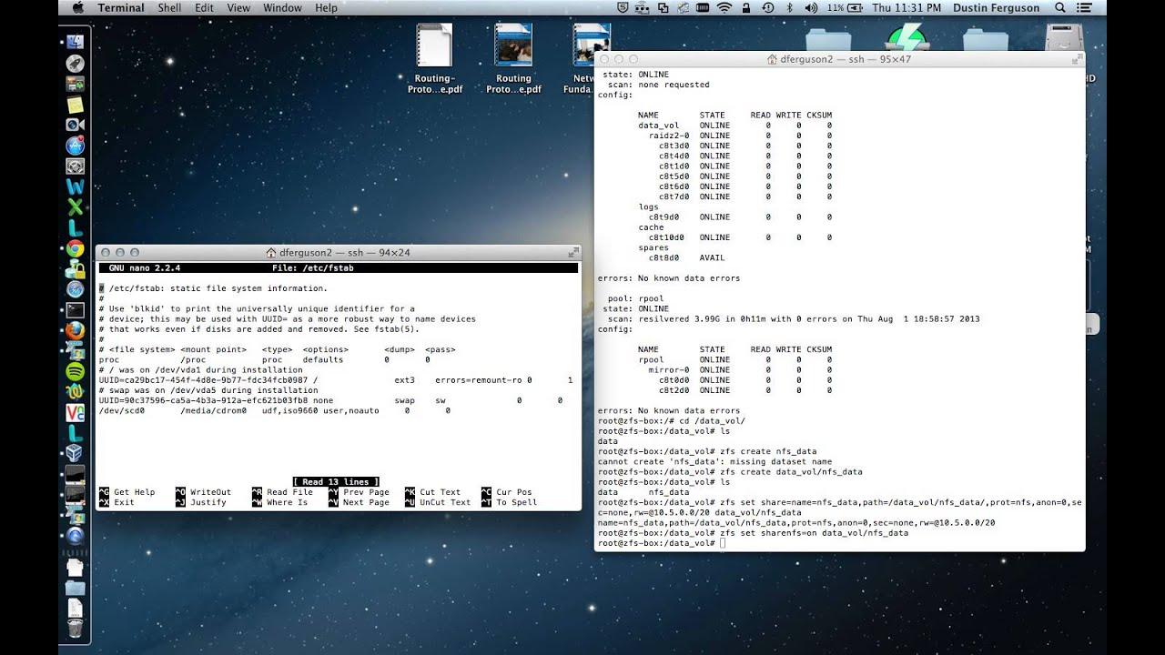 Solaris 11 1 ZFS NFS Sharing