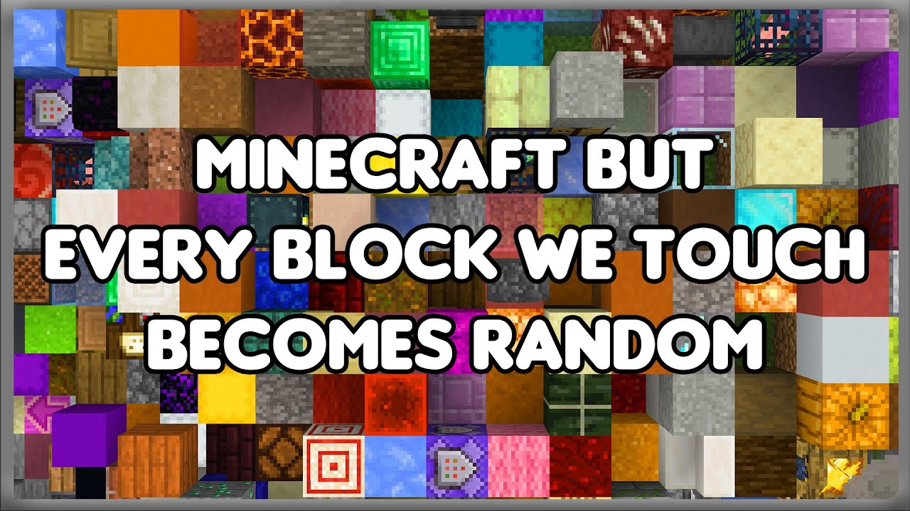 Minecraft But Every Block We Touch Becomes Random Youtube