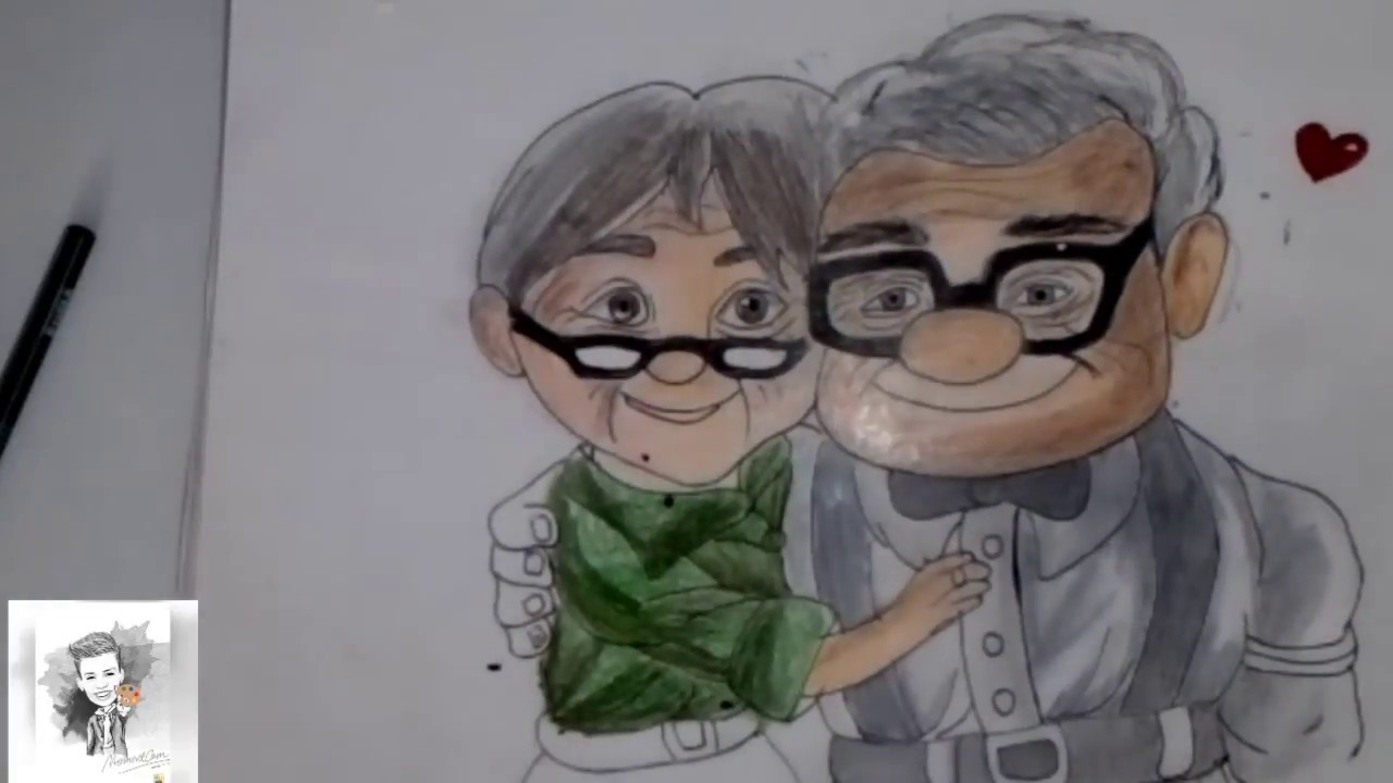 Dibujando A Los Viejitos De Up Un Amor Para Toda La Vida