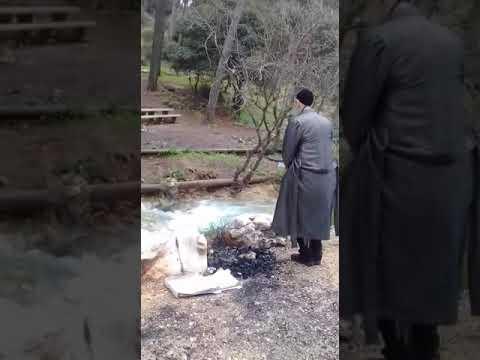הרב דב קוק בתפילה והתבודדות בנחלים הזורמים בצפון