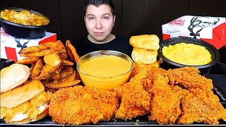 Most Popular ASMR Foods At KFC With Cheese Sauce • MUKBANG
