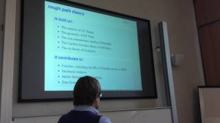 Terry Lyons (University of Oxford): Rough Paths, Hopf Algebras and Chinese Handwriting