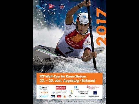 ICF Canoe Slalom World Cup 2, Augsburg, Sunday morning
