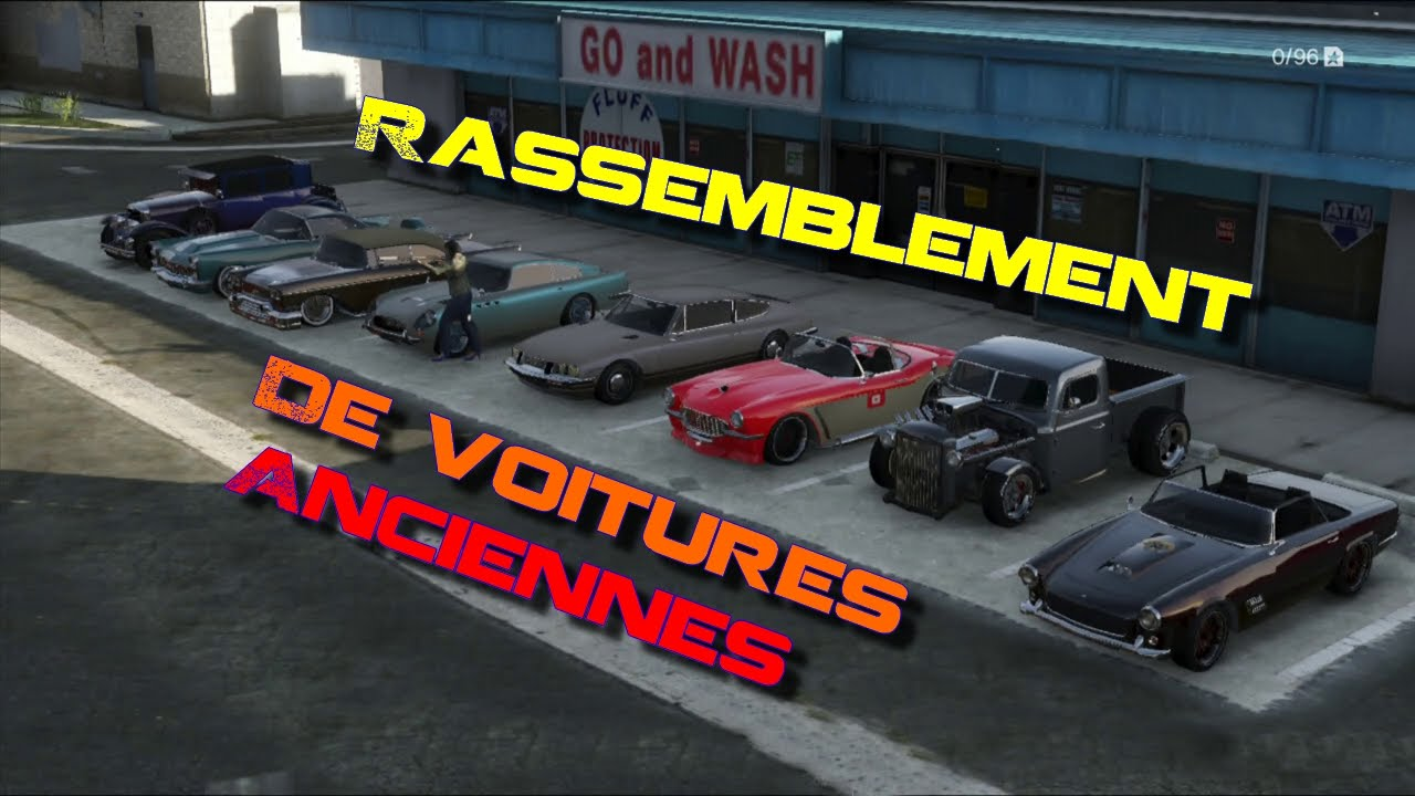 rassemblement de voitures anciennes sur gta online youtube. Black Bedroom Furniture Sets. Home Design Ideas