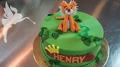 Motivtorte Fondant Tiger - Tiger Torte aus Fondant - Fondanttorte mit Tiger Design - Kuchenfee