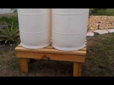 Double rain barrel hook up