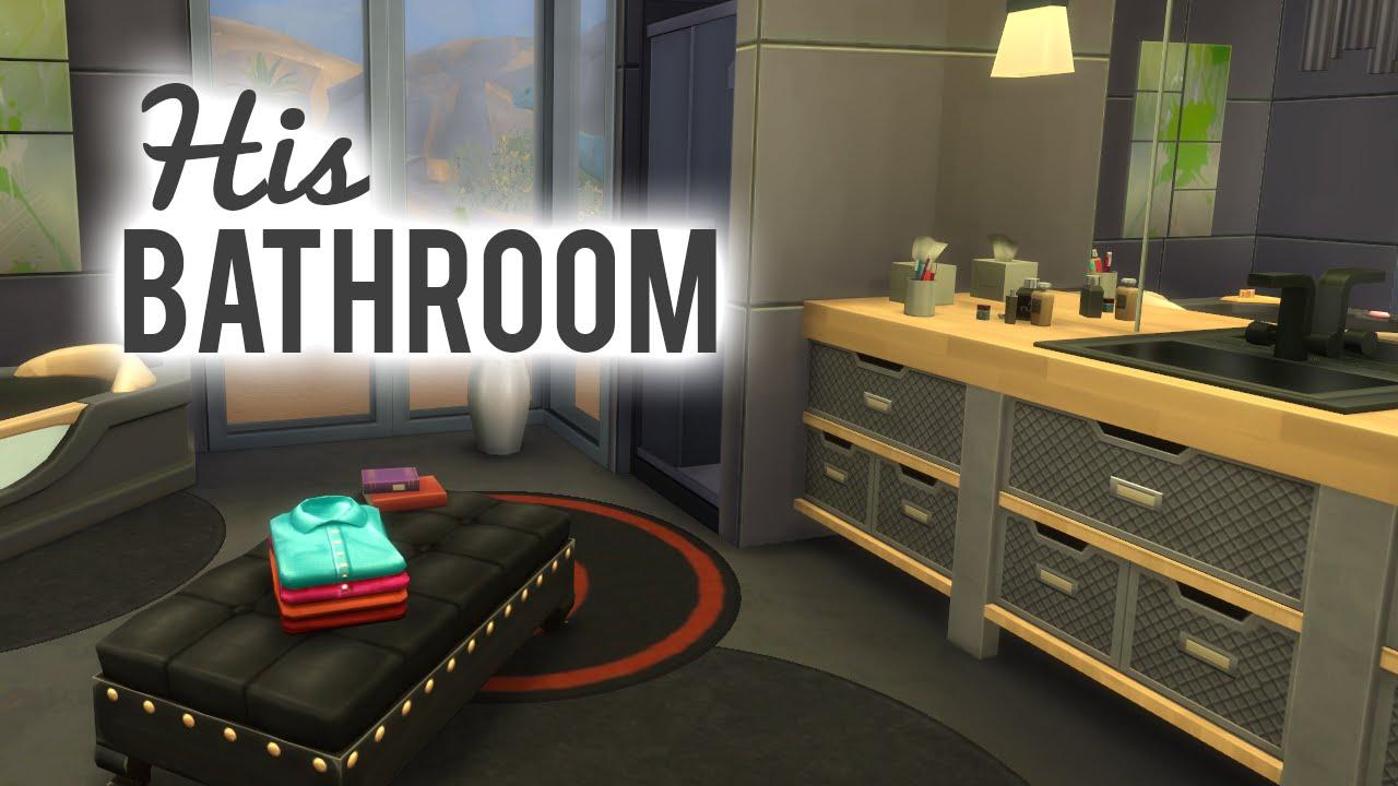 The sims 4 room build his bathroom youtube for Bathroom ideas sims 3