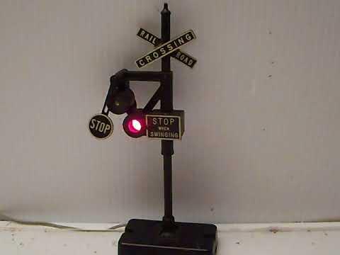 LIONEL # 140 BANJO RAILROAD CROSSING SIGNAL / WIG WAG SIGNAL
