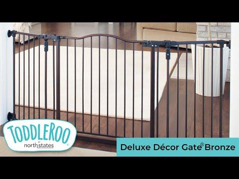 """North States Supergate Deluxe Decor 15/"""" gate extension Matte Bronze"""
