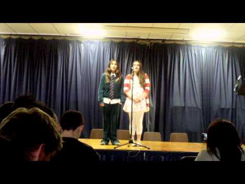 """1st Year Irish students sing """"Mo Ghille Mear"""""""