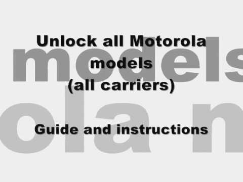 How to Unlock ANY Motorola - SLVR L2 l6 l7 l9 Cingular At&t Rogers Fido subsidy code network v3