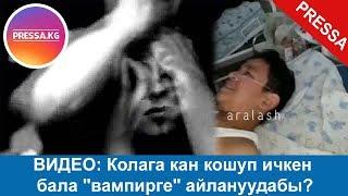 """ВИДЕО: Колага кан кошуп ичкен бала """"вампирге"""" айлануудабы?"""