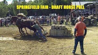 Horse Pulls at Maine's Springfield Fair - August 2014 thumbnail
