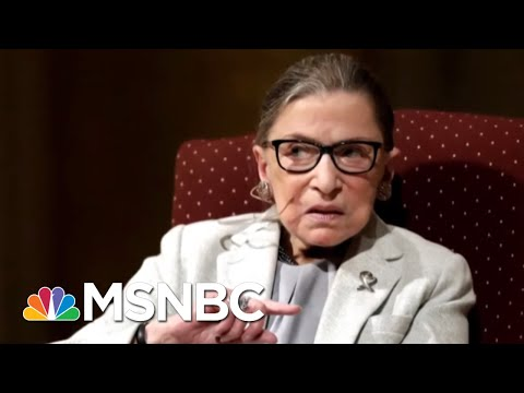 Ruth Bader Ginsburg Returns To Supreme Court After Lung Cancer Surgery | Hallie Jackson | MSNBC