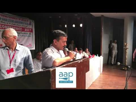 Arvind Kejriwal speaking at Senior Citizens Council of Delhi's Annual Conference