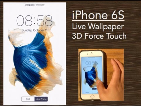 iPhone 6S Wallpaper Comes to Life! * 3D Force Touch iOS9 ...