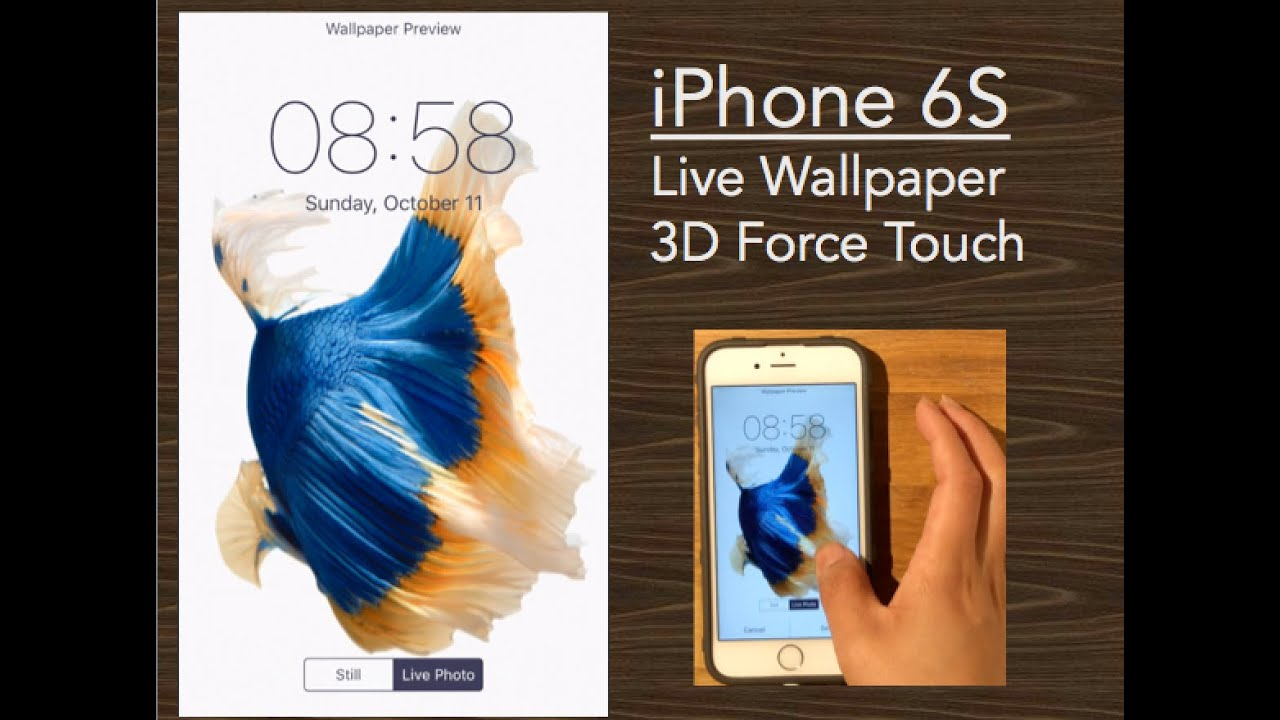 IPhone 6S Wallpaper Comes To Life! * 3D Force Touch IOS9