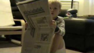 Monty reading the paper