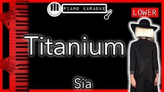 Titanium (LOWER -3) - David Guetta ft. Sia - Piano Karaoke Instrumental