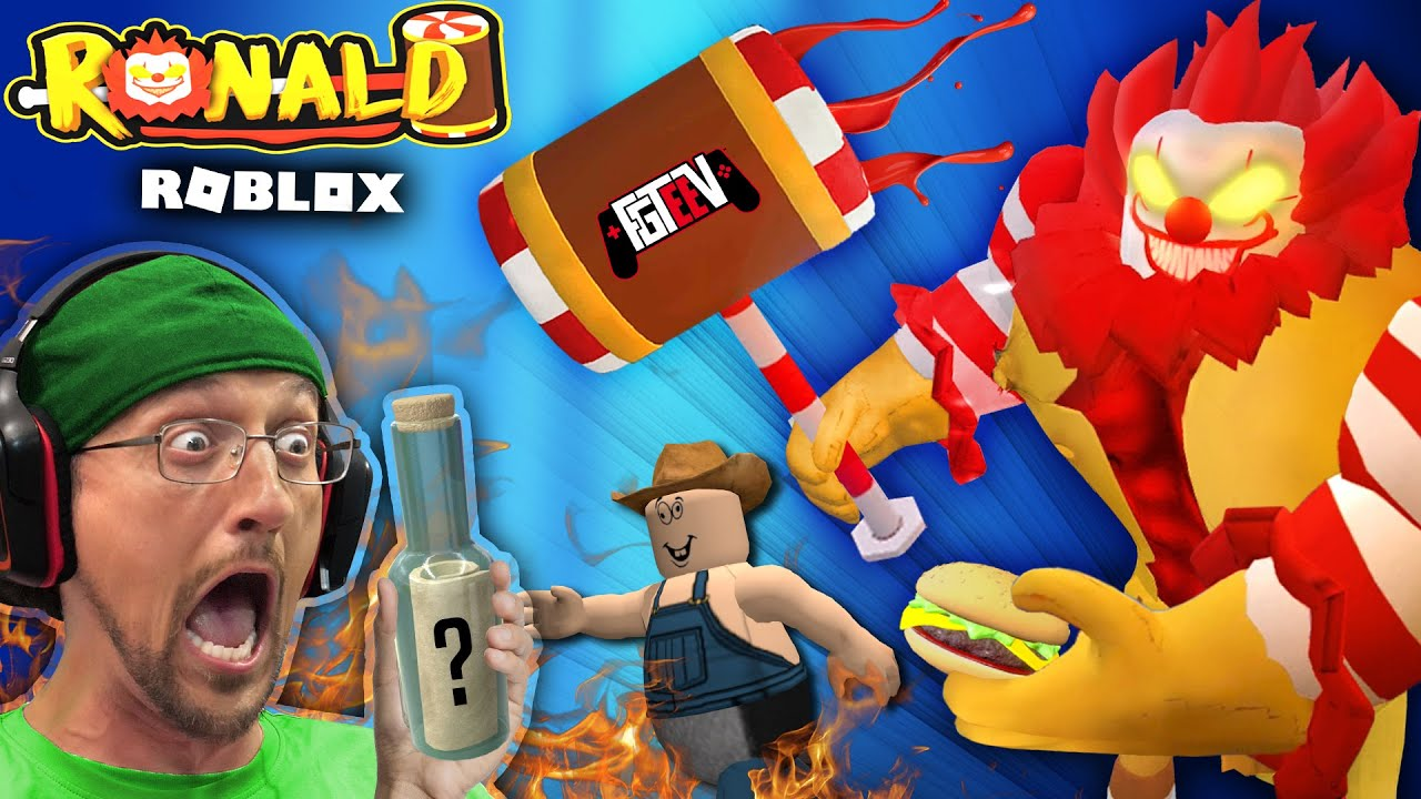 Escape Roblox Ronald The Worst Mcdonalds Fgteev Pc Almost Fried