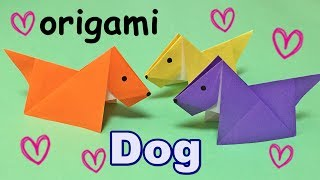 Origami Easy for Kids but Cool   How to Make a Paper Dog   Origami Animal Dog Tutorial